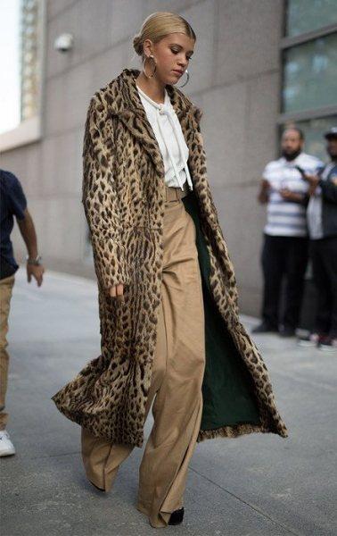 25 идей, с чем носить леопардовое пальто и выглядеть дорого